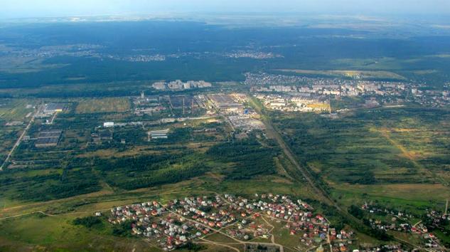 Топографічне знімання лінії електропередач в селі Рясне-Руське
